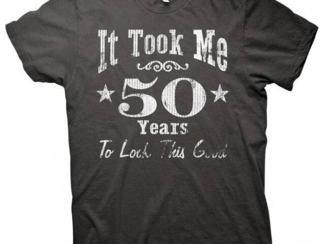 magliette personalizzate per i 50 anni