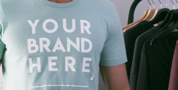 T shirt per il brand marketing