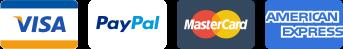 Visa - PayPal - MasterCard - American Express