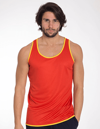 Mens Ultra Tech Contrast Running and Sports Vest